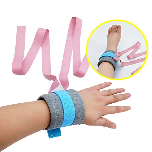 Limb Materials - XIHAA Elderly Hands and Feet Restrained Band, Manic Psychosis,Cotton Material Control Limb Holders Restraint for Bed,Fall Prevention Non Slip,Pink,L