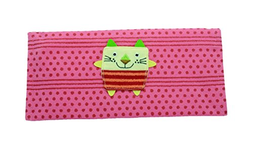 Hikosen Cara - A Brand of Japan - Handmade Cotton Cute Polka DOT Pouch Purse Wallet (Pink)