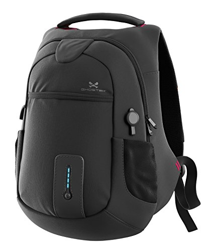 [Ghostek NRGbag Series Computer Laptop Messenger Backpack Book Bag + Battery Power Bank with USB Ports | Water Resistant | 7000mAh | Lightweight | Multipurpose | Laptops Up To 15.6