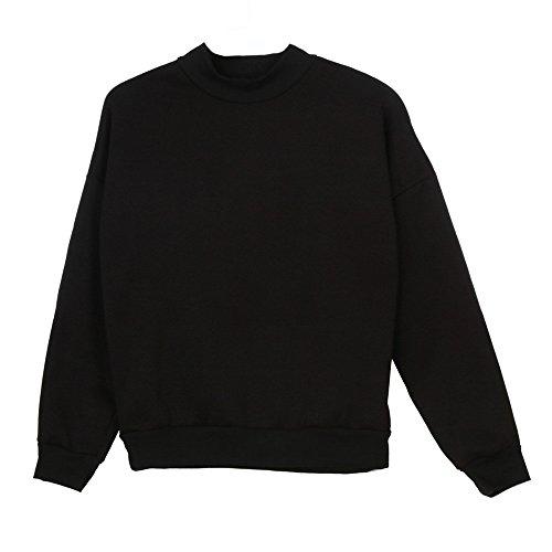 Pullover Forte Di Camicie T Elegante Casual Liquidazione Felpa Scamosciato Suede Donne Donna Nero Maniche Lunghe shirt Vendita Da Camicette In Taglia Tops B840wd8