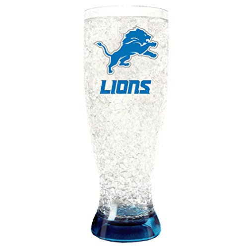 NFL Detroit Lions 16oz Crystal Freezer Pilsner
