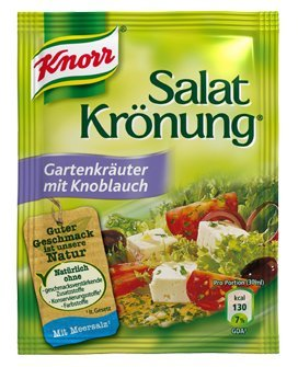 Knorr Salatkrönung Gartenkräuter mit Knoblauch (garden herbal with garlic) (5 Pc.) 3 Packs