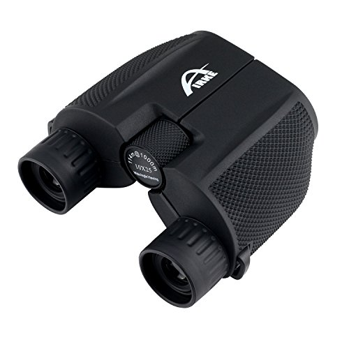 Airke 10×25 Folding High Powered Binoculars with Weak Light Night Vision Clear Bird Watching Great for Outdoor Sports Games and Concerts
