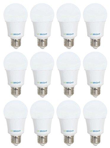 Viribright 750006-12 0006 25W Equivalent LED Light Bulb, (5W), 2700K, A19 Style, E26 Medium Base (12-Pack), Warm White, Piece
