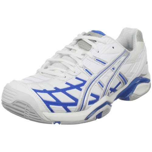 ASICS Women's GEL-Challenger Tennis Shoe,White/Maui Blue/Silver,9 M (Gel Challenger Asics)