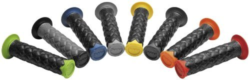 Spider Grips SL/TBL/B SLT Slim Line Grips for ATV, Watercraft, Snowmobile Black/Blue