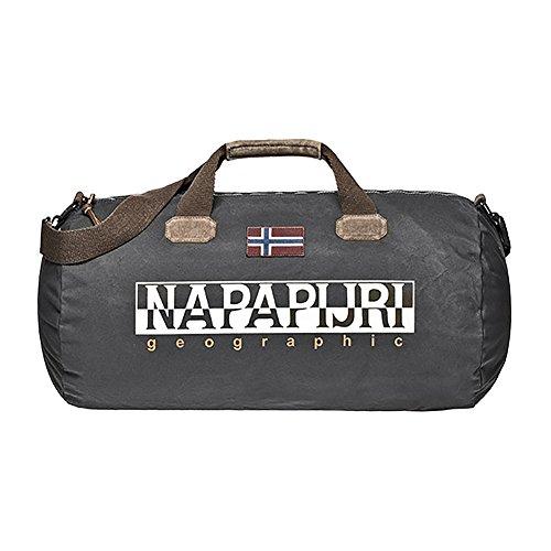Napapijri Bering Duffle Bag One Size Dark Grey Solid by Napapijri