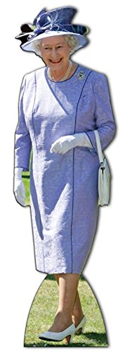 Star Cutouts, Queen Elizabeth II in Lilac Dress, Life-Size Cardboard Cutout Standup - 68 x 21 inches