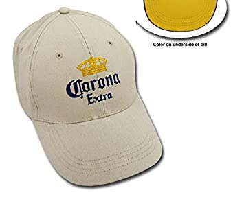 7a268a00476 Image Unavailable. Image not available for. Color  Corona Extra Khaki  EMBROIDERED BEER CAP ...