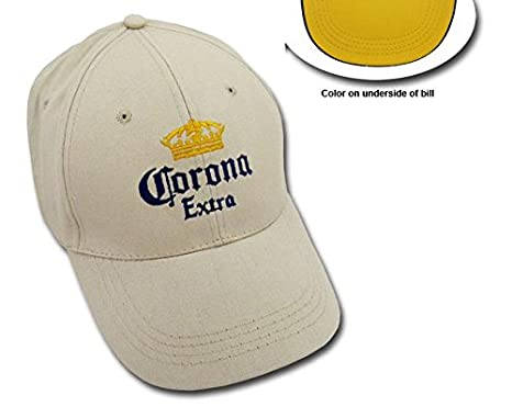 5f59d0b597c Image Unavailable. Image not available for. Color  Corona Extra Khaki  EMBROIDERED BEER CAP BASEBALL ...