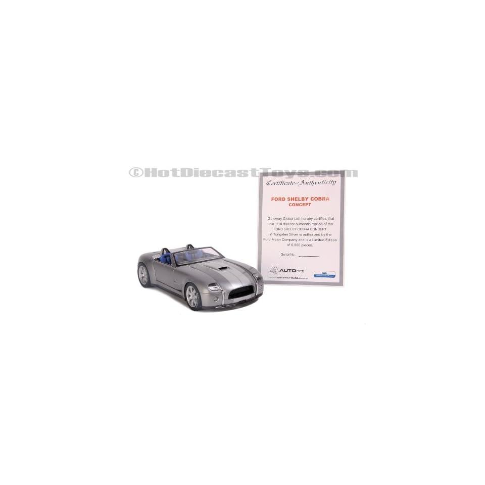Autoart Ford Shelby Cobra Concept Silver 2004 118