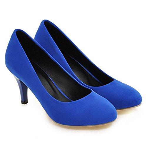 Bleu Bout 1 Escarpins Fermé Femmes TAOFFEN Hn0YRxR