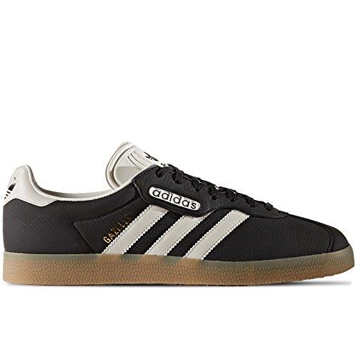 adidas Herren Gazelle Super Sneaker Mehrfarbig (Black, White 001)