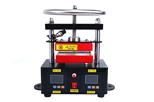 YaeTek Heat Press Machine Hand Crank Duel Heated Plates Manual Heat Transfer - Dual Element Heating Plates 110V 2.4