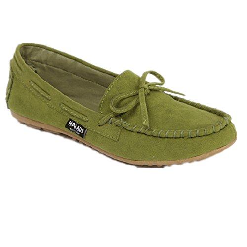 Yougao Womens Slip-On Loafer Flat Shoes Green q9yFMsYhny