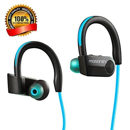 Sports Stereo Bluetooth Headphone with Mic (Black/Blue) - 3