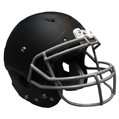 Buy matte black football helmet youth