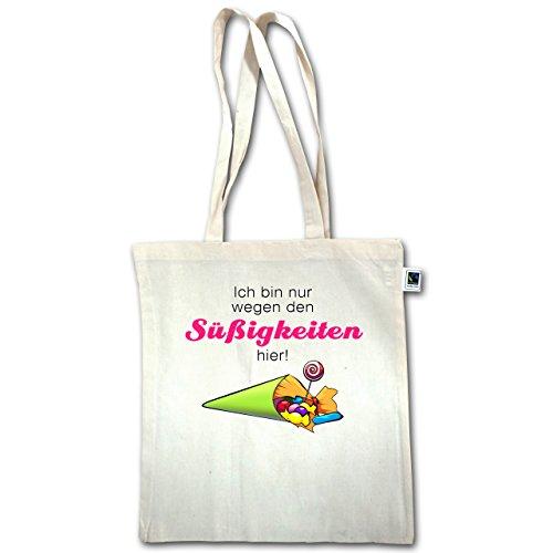 Iscrizione - Sono Qui Solo Per I Dolci Qui - Unisize - Natural - Xt600 - Manici Lunghi In Juta Bag
