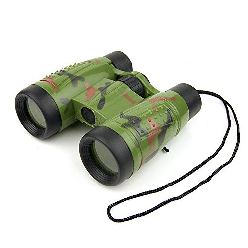 Children Kids Educational Insights Mini Portable Folding Camouflage 6x 35mm Compass Binoculars Telescope Toys