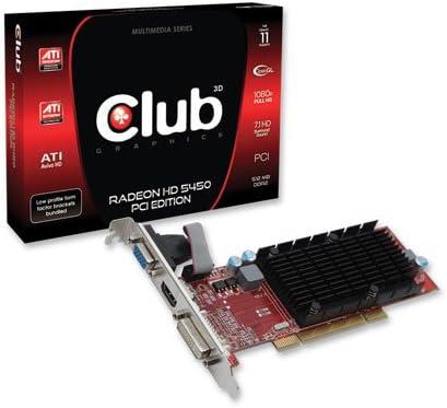 CLUB3D Radeon HD 5450 - Tarjeta gráfica de 512 MB (Radeon HD ...