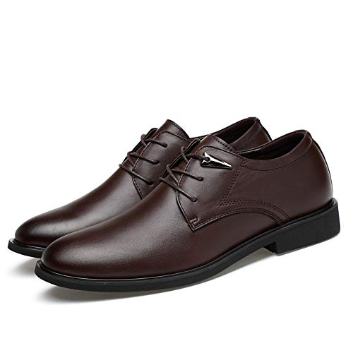 Cricket Casual Scarpe semplici da con Business a Men's Oxford Marrone Classiche Testa Tonda Scarpe Cravatta Scuro fwxCBtOqE