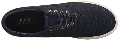 Ralph Lauren Mens Vaughn Navy Wool Trainers 42 EU