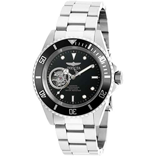Invicta Men's 'Pro Diver' Stainless Steel Automatic Watch, Color:Silver-Toned (Model: ()