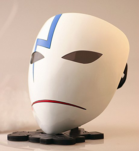 Gmasking Darker Than Black Hei Lee Cosplay Mask Collection Scale 1:1 Replica (Smile) (Code Geass Zero Halloween Costume)