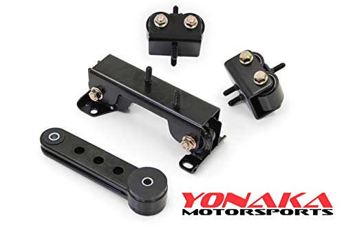 (Yonaka Motorsports For 2002-2005 Subaru Impreza WRX STI Motor Engine Mounts Kit w/Pitch)