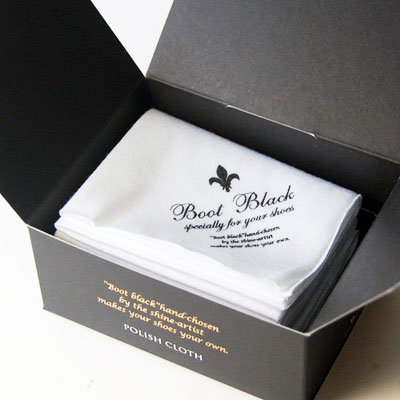 【Boot Black ブートブラック】ポリッシュクロス(日本製)ハイシャイン仕上げに最適な目の細かい綿クロス