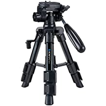 BONFOTO Mini Tripod B71T,Lightweight Portable Aluminum Camera Travel Tabletop Tripod with Quick Release Plate, Pan Head for Smartphones Compact System Camera DSLR Canon Nikon Sony with Carrying Bag
