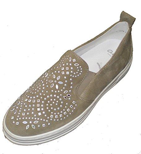 Mujer Ara Courtyard Sneaker 12 Beige 37412 vxxp4C