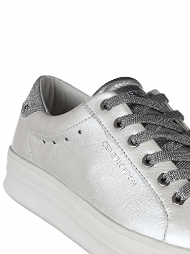 buy cheap official sale pay with visa Crime Sneaker London in Pelle Con Lingua e Punta Metallizzate e Para in Gomma mtVlPG