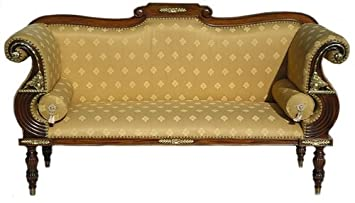 Awesome Solid Mahogany Real Gold Leaf Ornate Sofa Chaise Lounge Creativecarmelina Interior Chair Design Creativecarmelinacom
