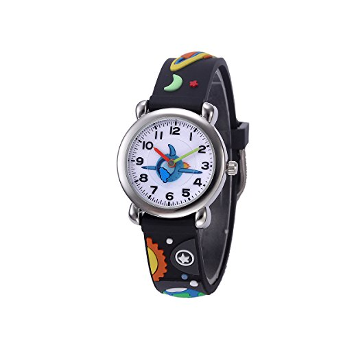 - Kids Watches with 3D Cartoon Pattern Multi Colors Silicone Strap 3ATM Waterproof Analog Quartz Time Teacher Gift for Boys and Girls