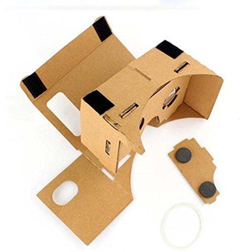 Yoyorule Google DIY Cardboard Quality 3D Vr Virtual Reality Glasses for 4-6 Inch CellPhone