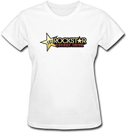 VEBLEN Women's Rockstar Energy Drink Design Cotton T Shirt