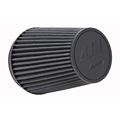 AEM 21-2100BF Universal DryFlow Clamp-On Air Filter: Round Tapered; 6 in (152 mm) Flange ID; 8.125 in (206 mm) Height; 7.5 in (191 mm) Base; 5.125 in (130 mm) Top: Automotive