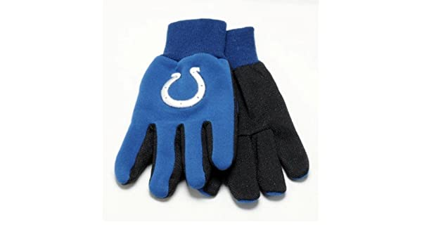 Indianapolis Colts Nfl White Logo Two Tone Utility Gloves Easy To Use Gardening Gloves