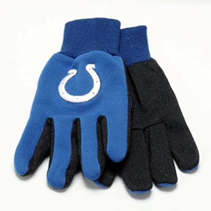 Indianapolis Colts Nfl White Logo Two Tone Utility Gloves Easy To Use Yard, Garden & Outdoor Living