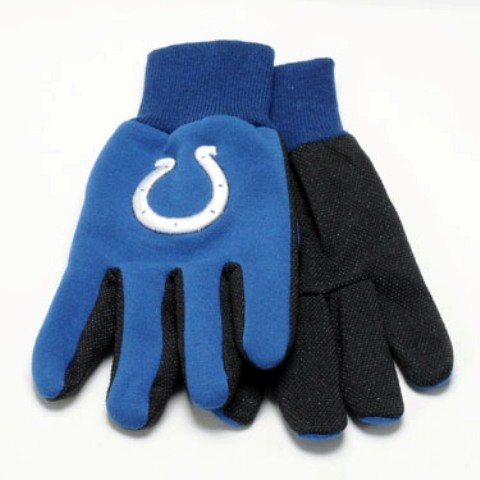 Indianapolis Colts Nfl White Logo Two Tone Utility Gloves Easy To Use Garden Clothing & Gear Gardening Supplies