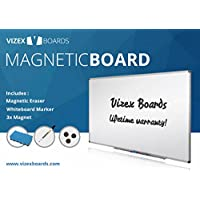 Vizex Boards  Magnetic Dry Erase Whiteboard, 48 L x 36 W