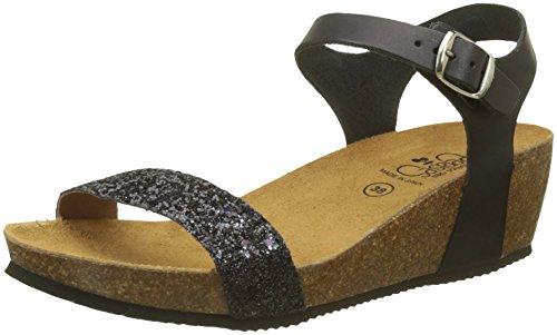 Glitter Women's Glitter Astrid Black Black des Temps Sandals Le Cerises Black wF1CCq