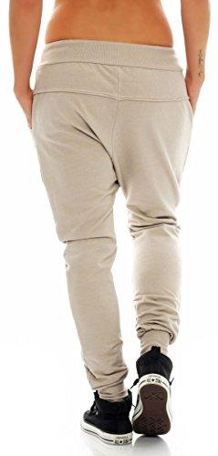 malito Aladin Pulsanti Taglia Pump Classic 8023 Pantaloni Beige Harem Sbuffo Donna Boyfriend Yoga Unica Baggy Pantaloni OxnSwx