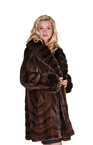 Madison Avenue Mall Mink Fur Stroller Coat For Women Real Chinchilla Collar Cuff SZ - Mall Madison