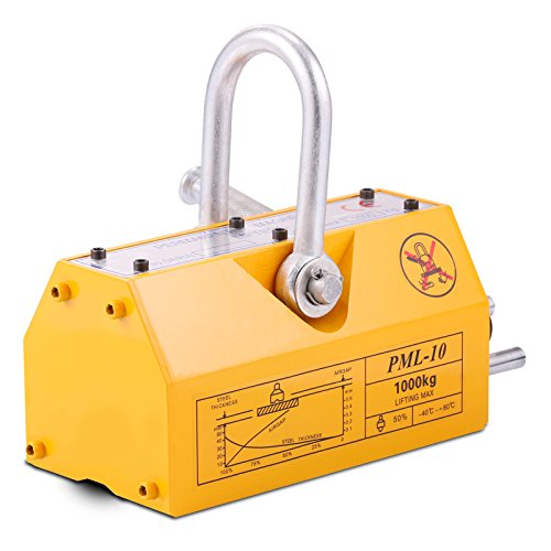 Geindus Magnetic Lifter 2200LB Permanent Magnetic Lifting Steel Neodymium Magnetic Lift Hoist N42-45