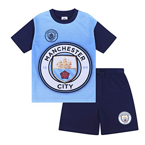 Manchester City FC Official Boys Sublimation Short Pajamas Navy 2-3 Years ()