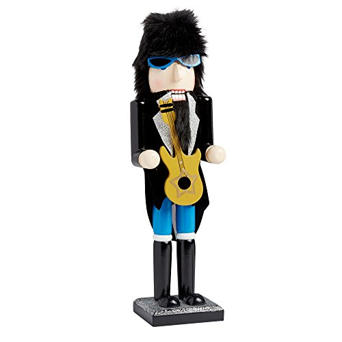Nantucket Home Wooden Christmas Nutcracker Decor, 15-Inch (Rock N Roll With ()