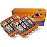 Start - 10 XL Compatible CHIP Cartucce per Canon PGI-570 BK XL Nero, CLI-571BK XL Foto Nero, CLI-571C XL Ciano, CLI-571M XL Magenta, CLI-571Y XL Giallo