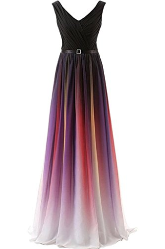 Ein Blau v mit Dunkel Steine Neu Schulter Ballkleider glaenzende Sommer Fuchsia Abendkleider 2018 Auscchnitt Damen Charmant wH6XIq